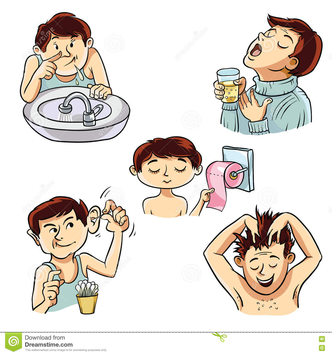 hygiene personal cartoons person vector