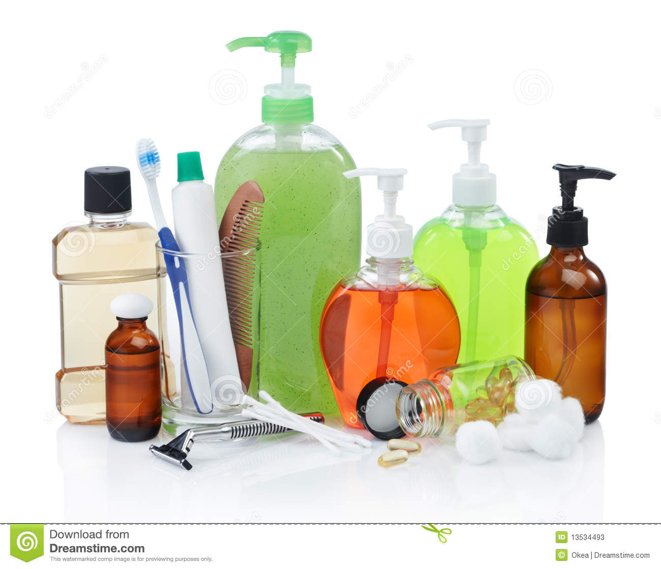 Personal hygiene products stock image. Image of isolated