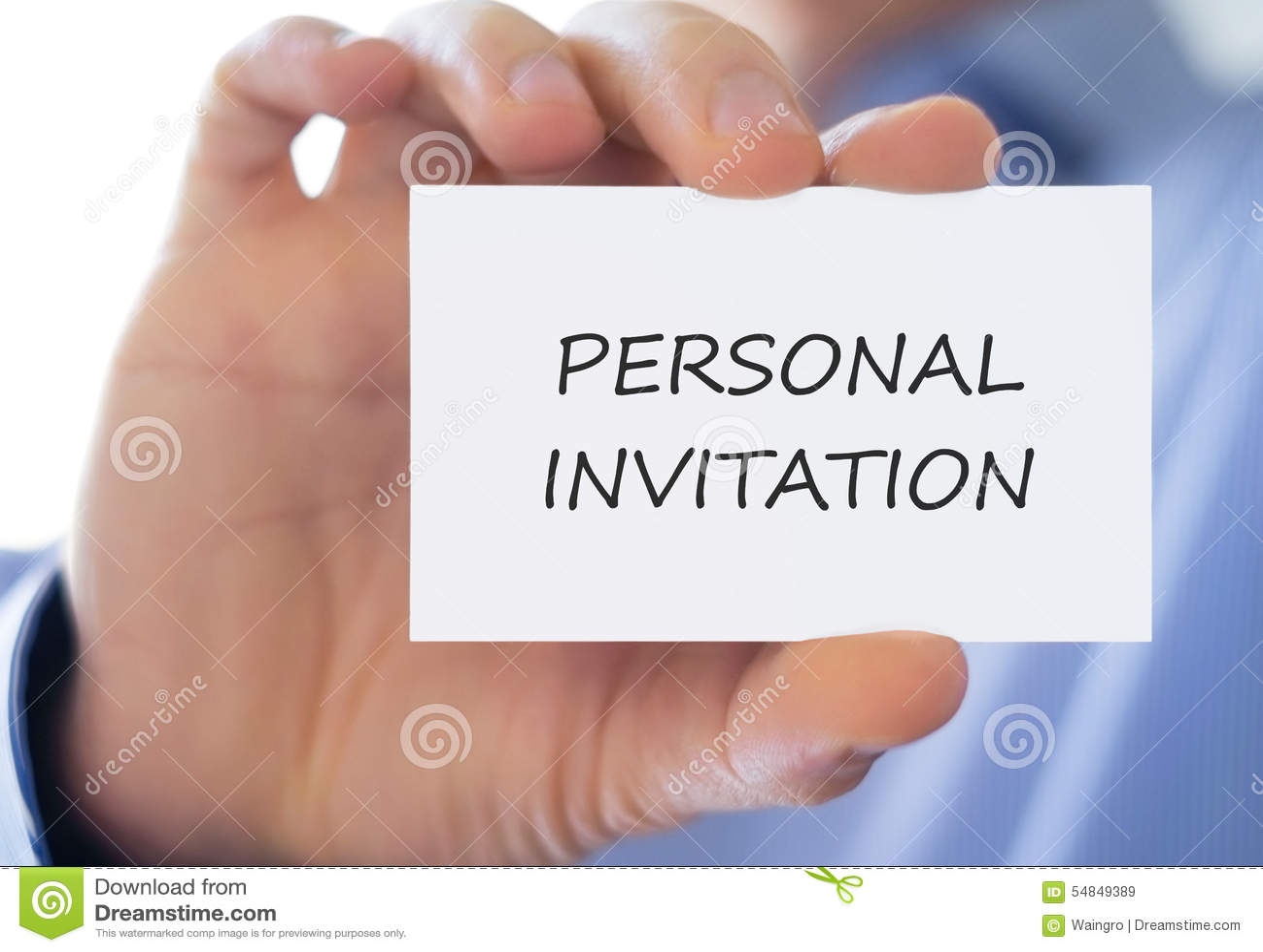 personal invitation stock image image of invite help 54849389