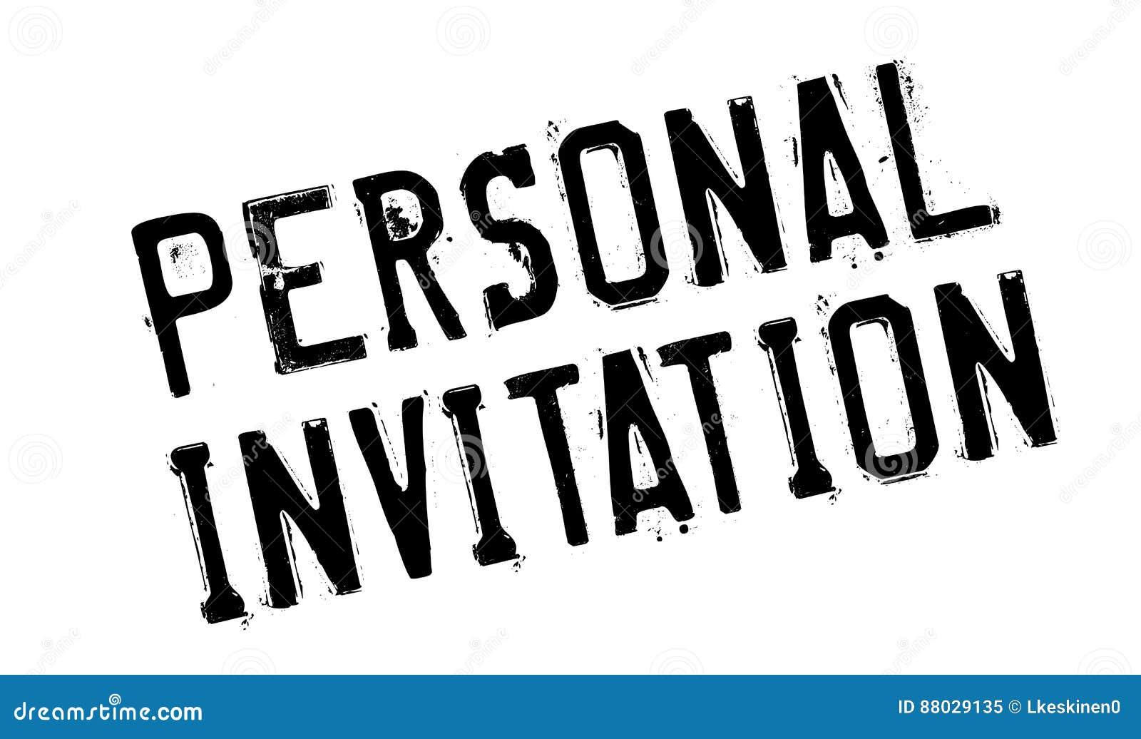 personal invitation rubber stamp stock image image of invite