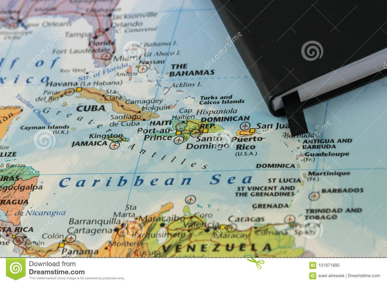 Personal Notes Of Someone Planning A Trip To The Caribbean Sea Over ...