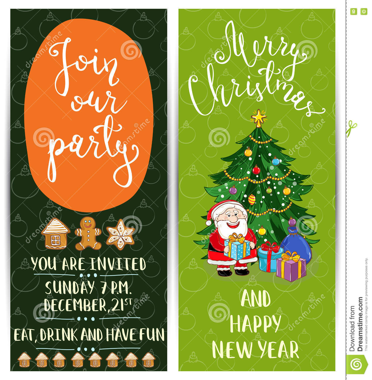 Christmas Party Time Images.Personal Offer To Join Corporate Christmas Party Stock