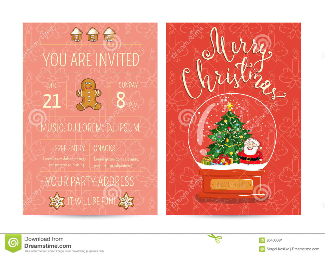 personal offer to join corporate christmas party