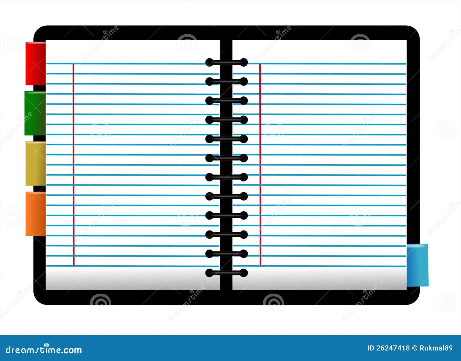 Personal Organizer Stock Illustration Image Of File