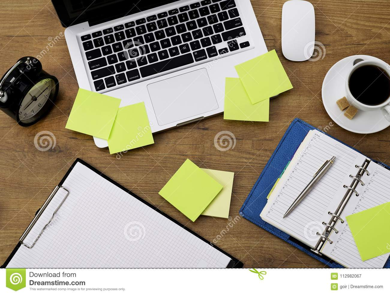 Agenda and office supplies