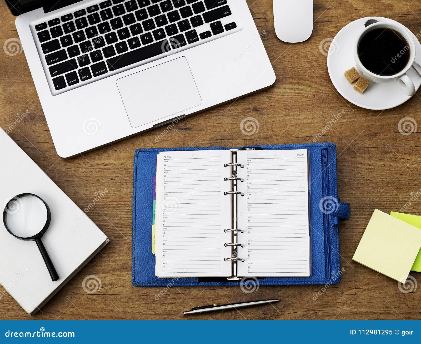 Personal organizer on desk