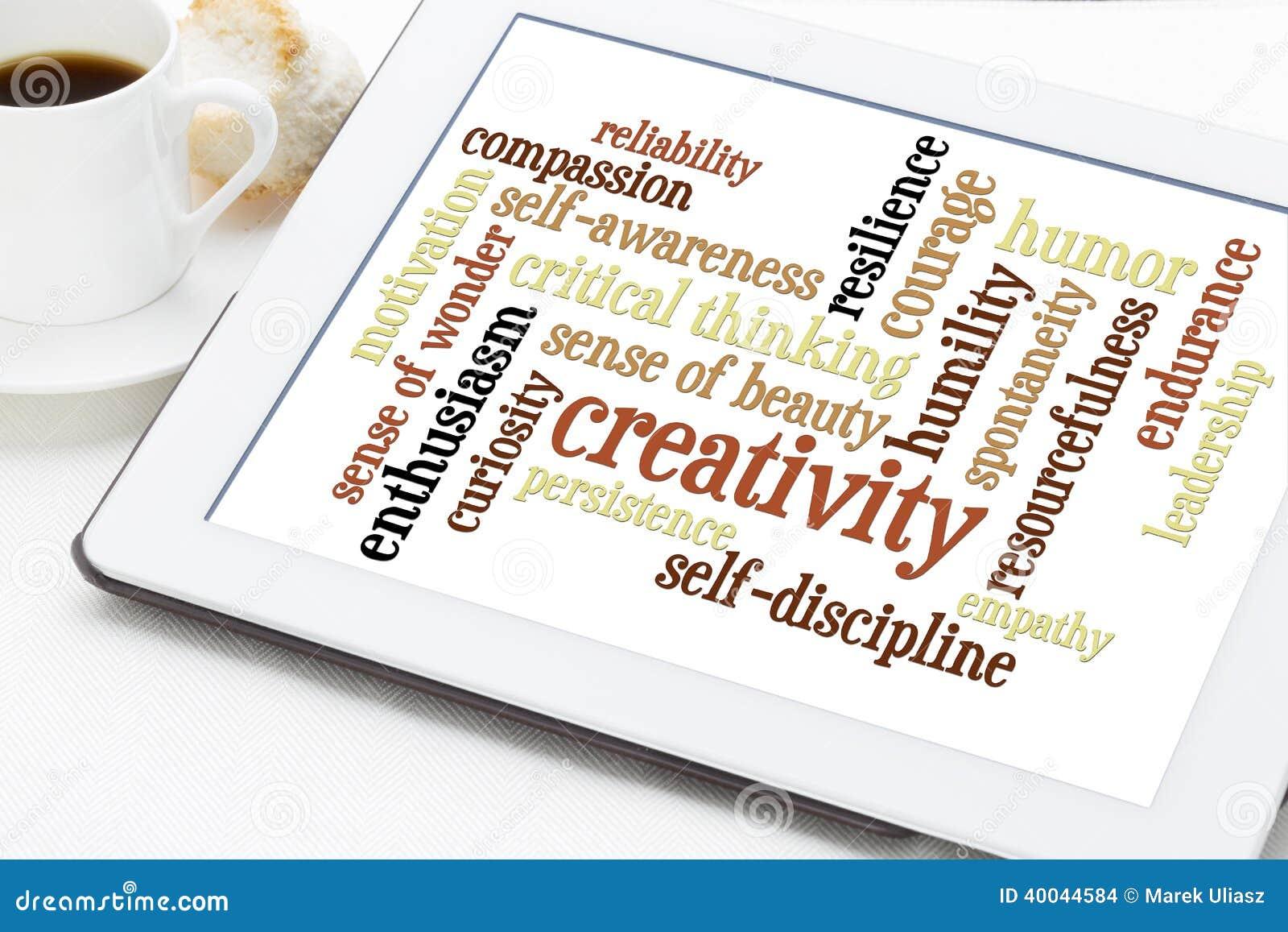 word cloud personal qualities het persoonlijke wolk self creativity discipline coffee digital parola nuvola trait key personligt tablet cup successful