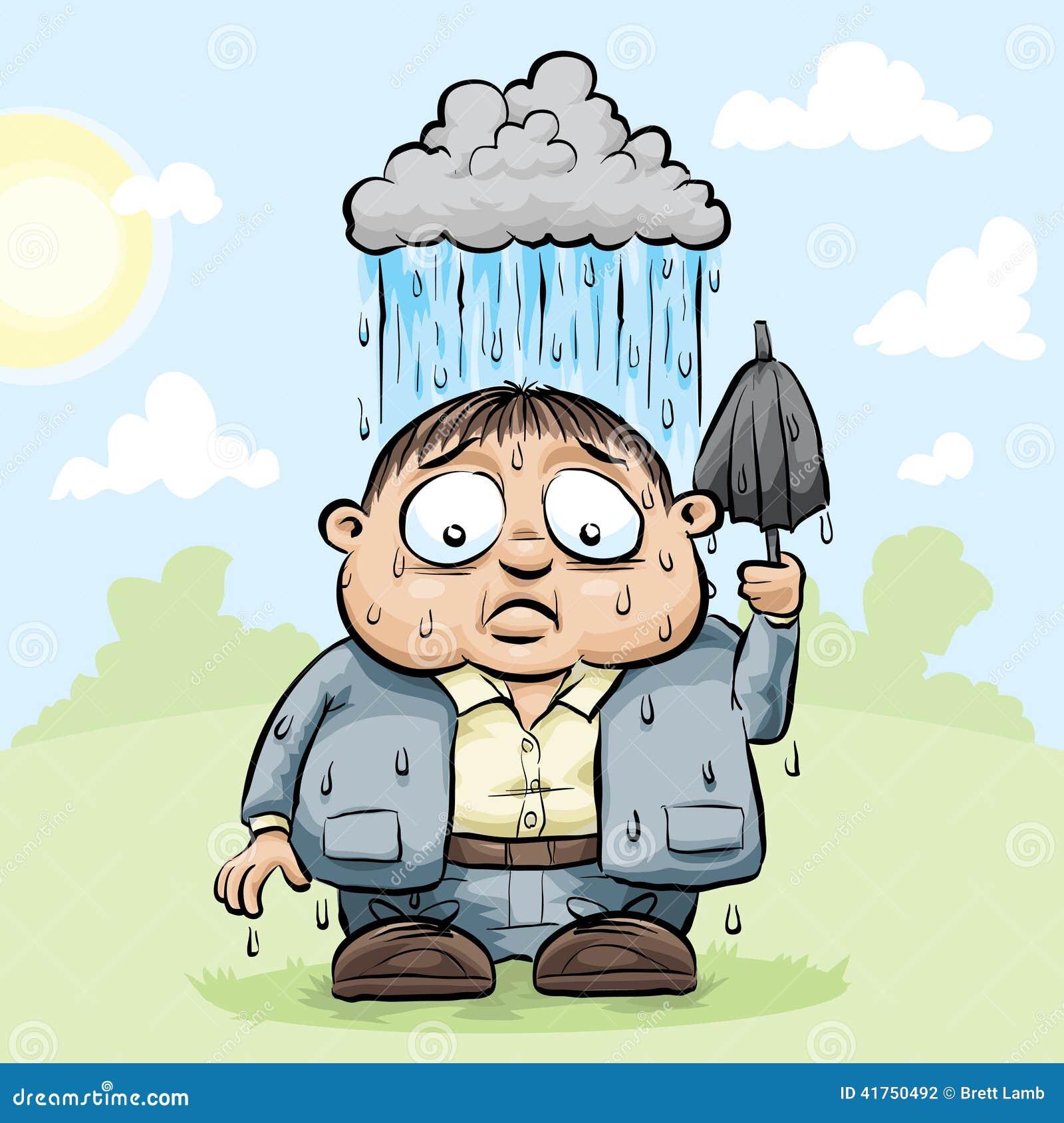 Personal Rain Cloud stock illustration. Illustration of ...