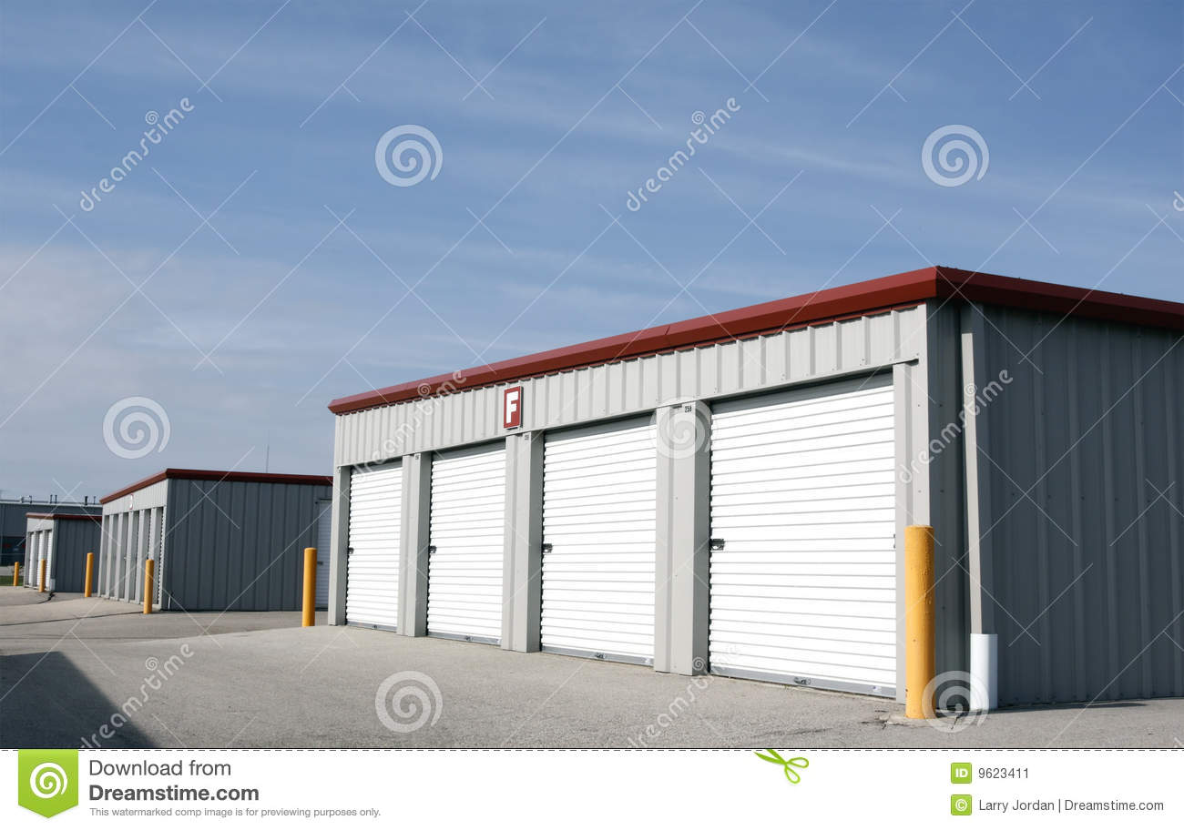 Personal Rental Storage Units Stock Image Image Of