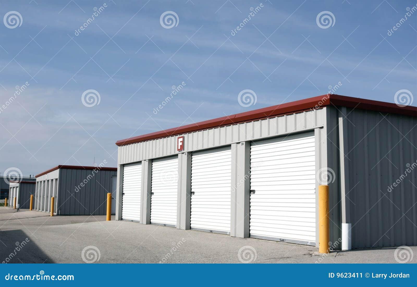 Personal rental storage units stock image image 9623411 for Big garage for rent