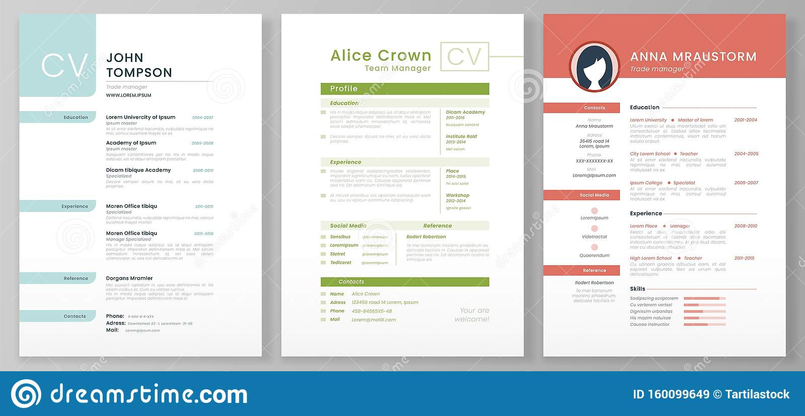 personal resume template  artistic profile  professional cv forms and minimalist resumes mockup