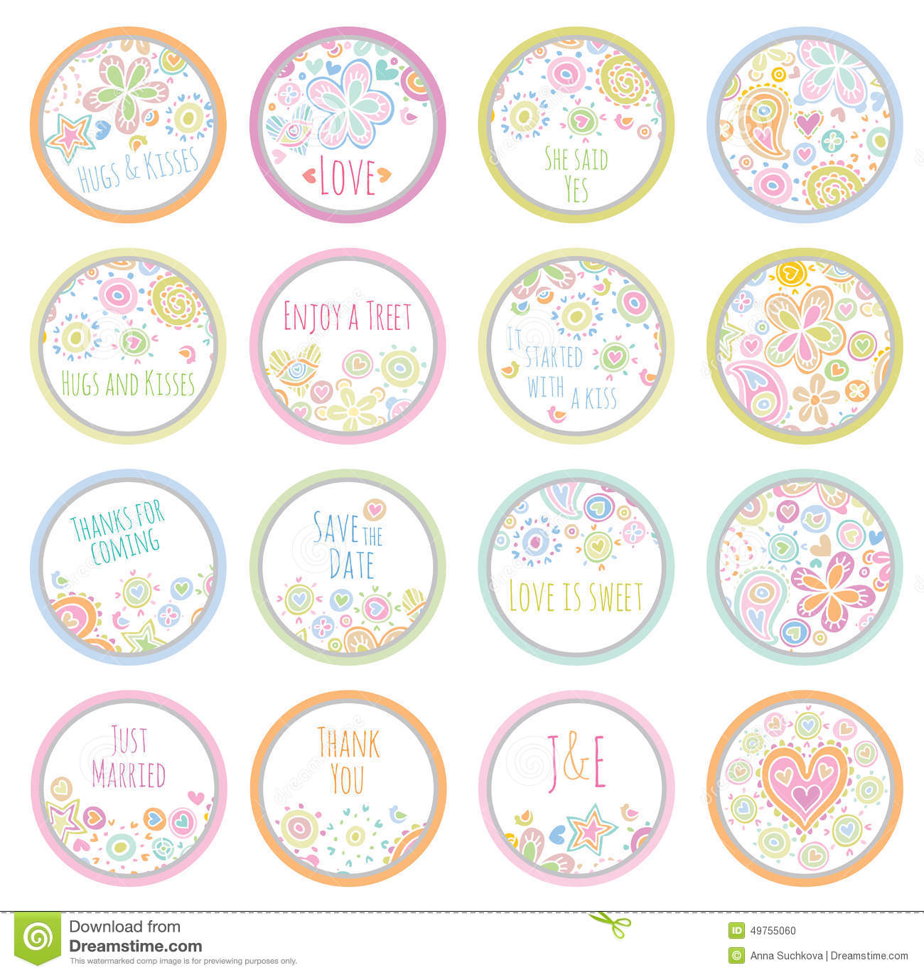 Personalized Candy Sticker Labels Stock Vector - Illustration of ...
