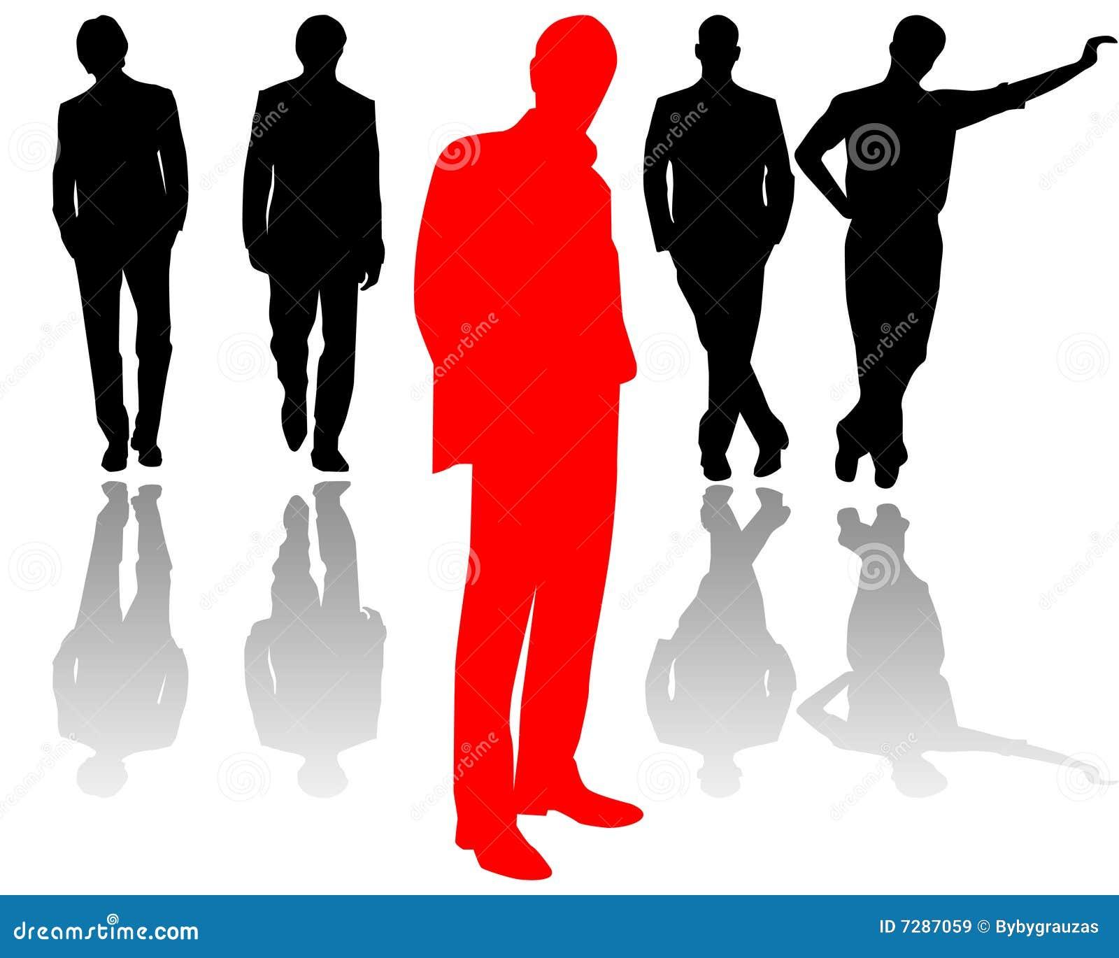 Personas de los hombres de negocios con el arranque de cinta en frente
