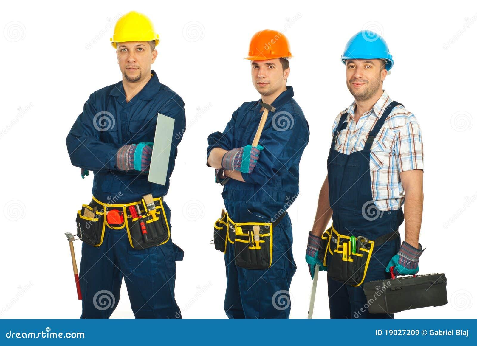 Personas de los trabajadores del constructor