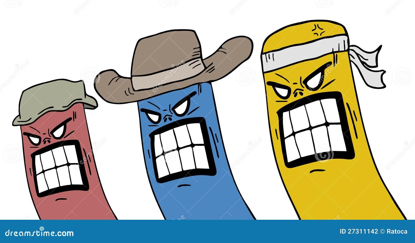 Personas Rebeldes Del Color Ilustracion Del Vector Ilustracion De Proscribe Cuidado 27311142