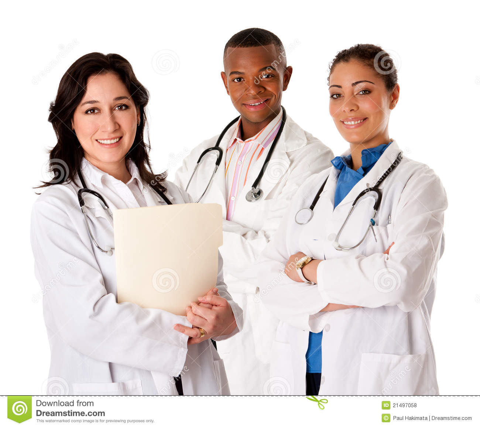Personas sonrientes felices del médico del doctor
