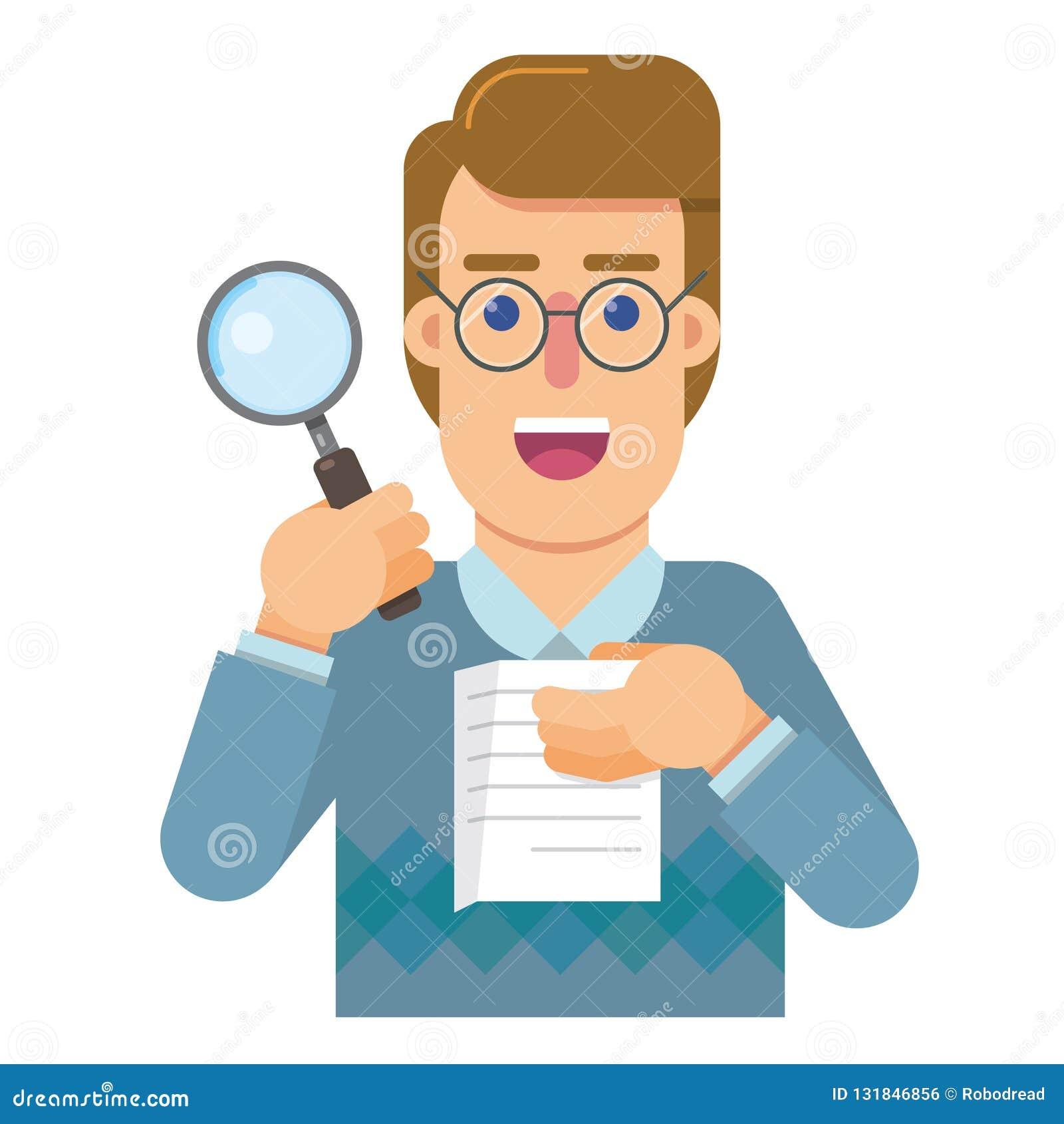 Persondelegaten till revisionen, som analyserar, och forskar riktigheten av arbetet