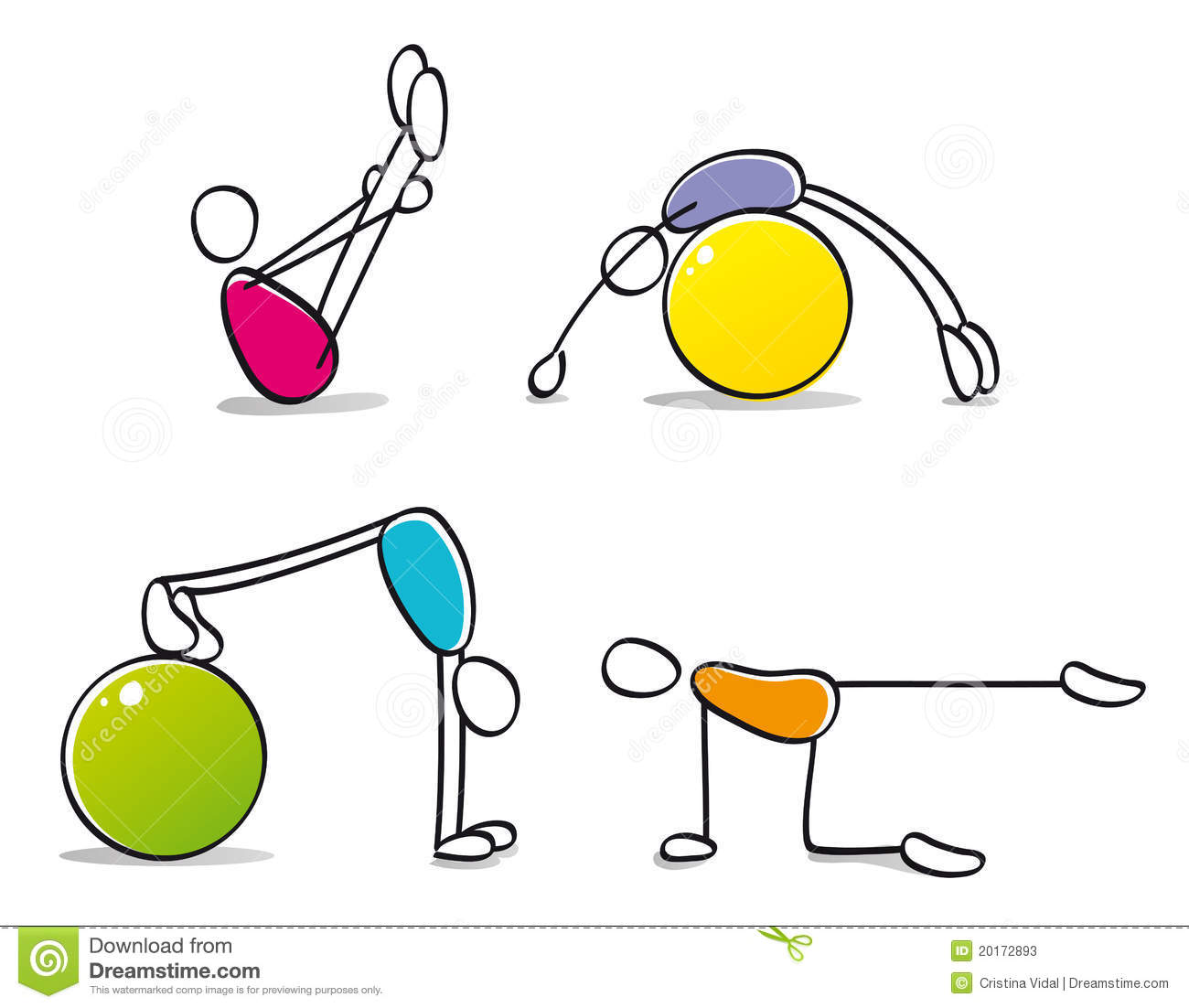 Funny Workout Clipart