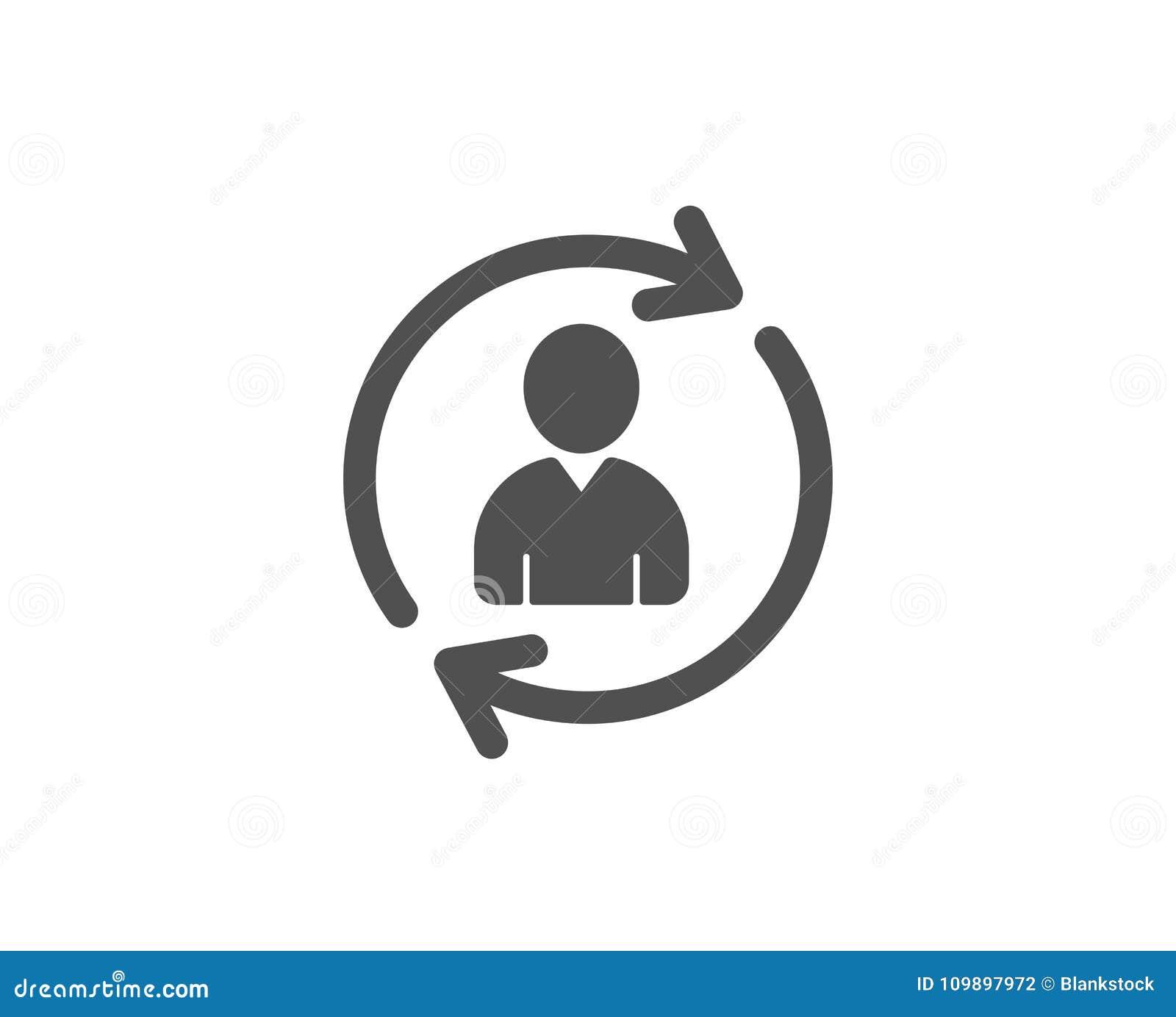 Personeels eenvoudig pictogram Het teken van het gebruikersprofiel