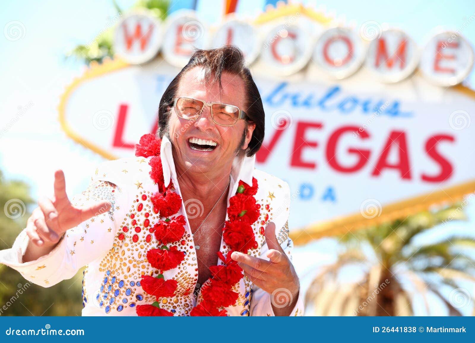 Personificador de Las Vegas Elvis