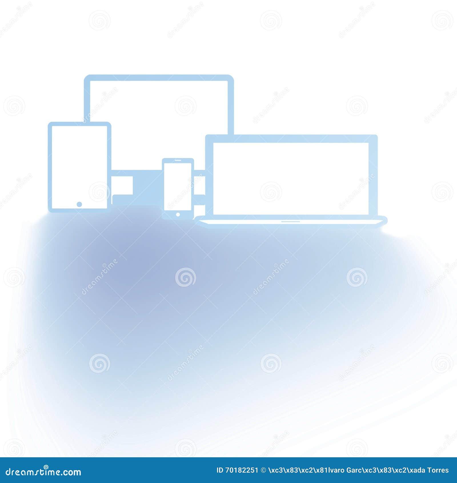 Personliga apparater som göras i blått