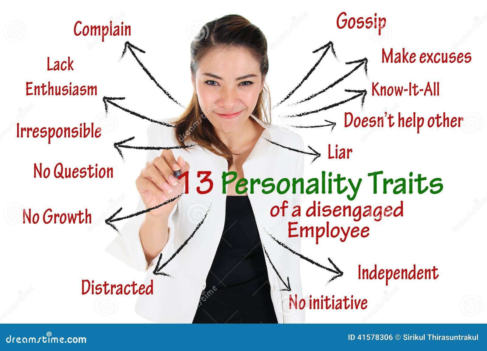 Personlighetsdrag av lösgjord anställd