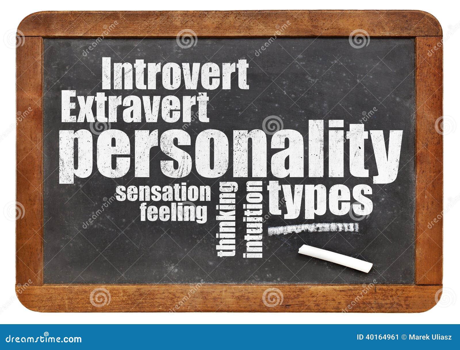 Personlighetstyper på svart tavla