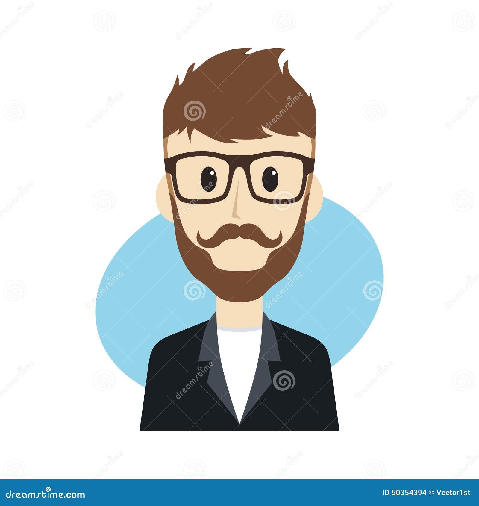 personnage de dessin anim d 39 homme illustration de vecteur illustration du visage noir 50354394. Black Bedroom Furniture Sets. Home Design Ideas