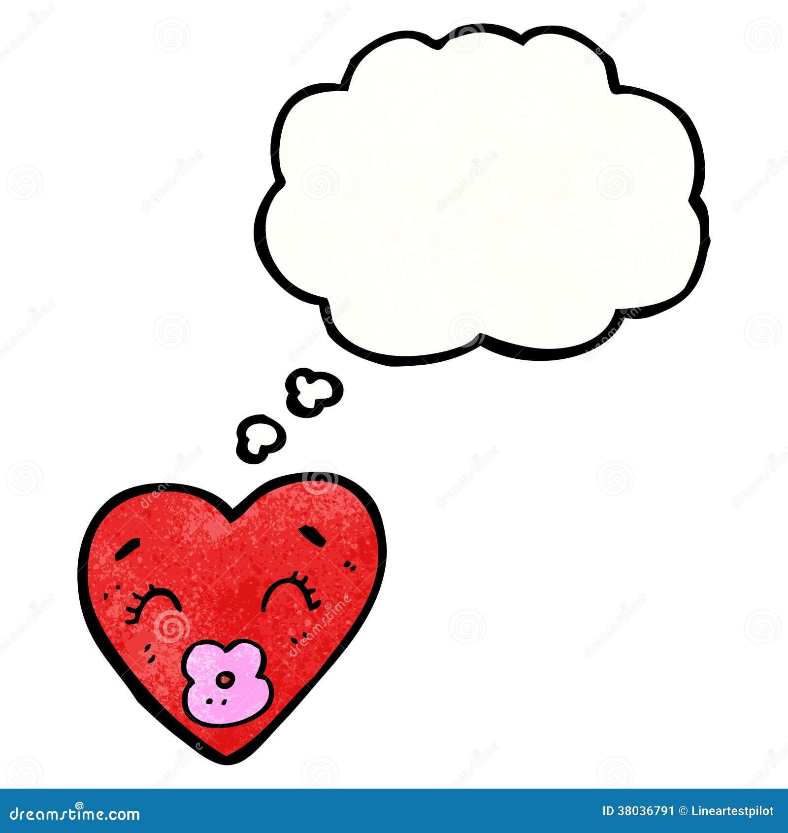 Personnage de dessin anim de coeur d 39 amour image stock - Dessin d amour ...