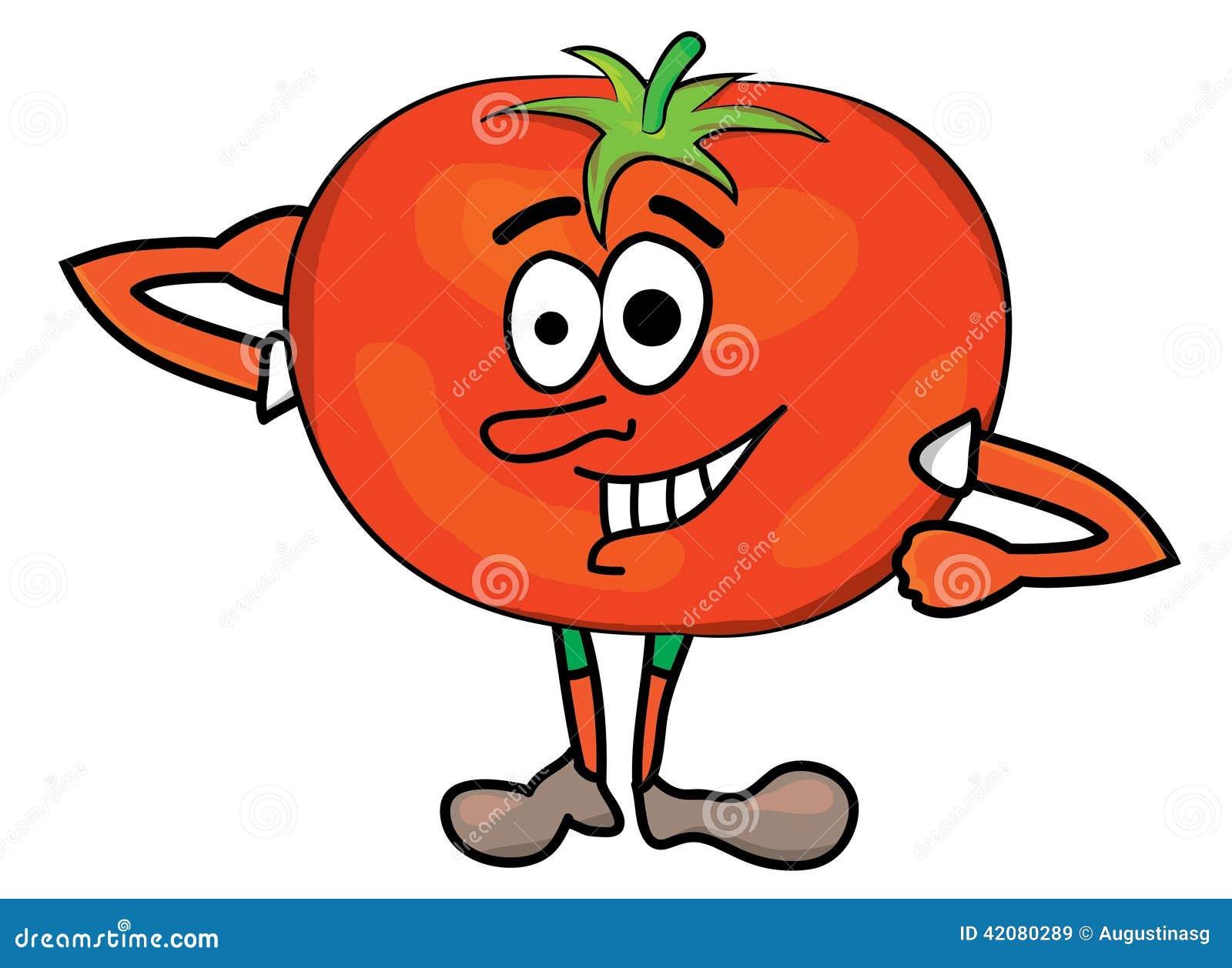 Personnage de dessin anim de tomate illustration stock illustration du visage illustration - Tomate dessin ...