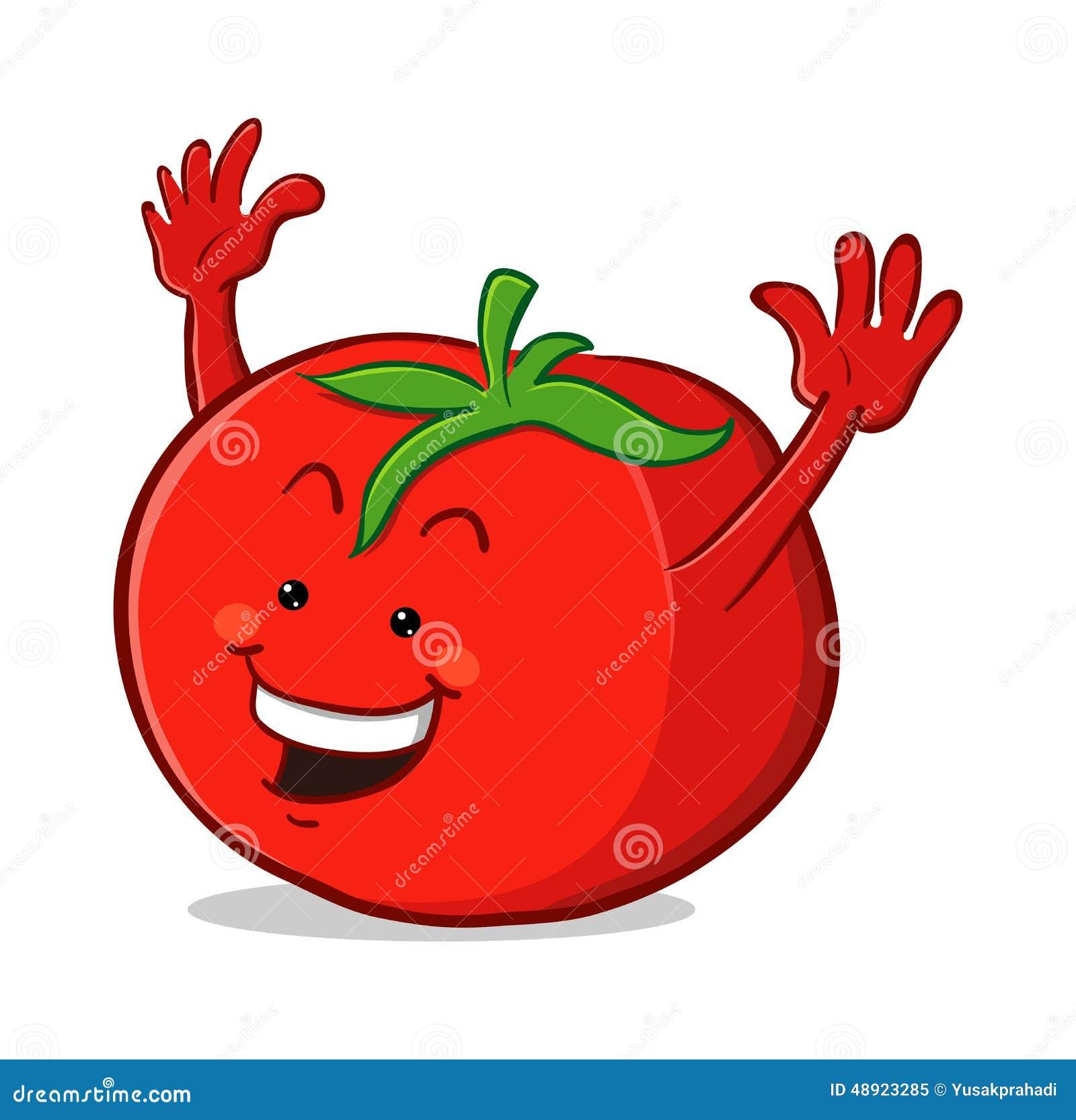 Personnage de dessin anim de tomate illustration de vecteur illustration du comique ketchup - Tomate dessin ...