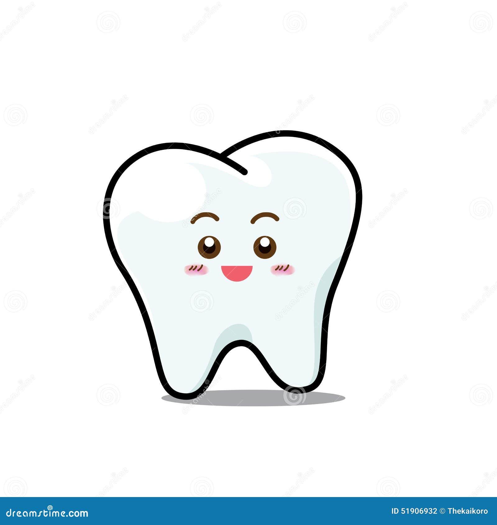 Personnage de dessin anim dentaire heureux de mascotte de - Dessin de dent ...