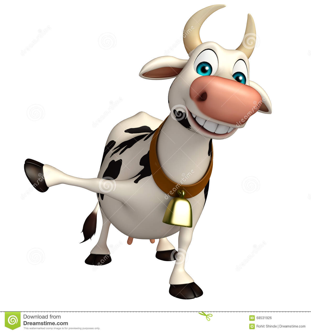 Personnage de dessin anim dr le de vache amusement illustration stock illustration du - Photo de vache drole ...
