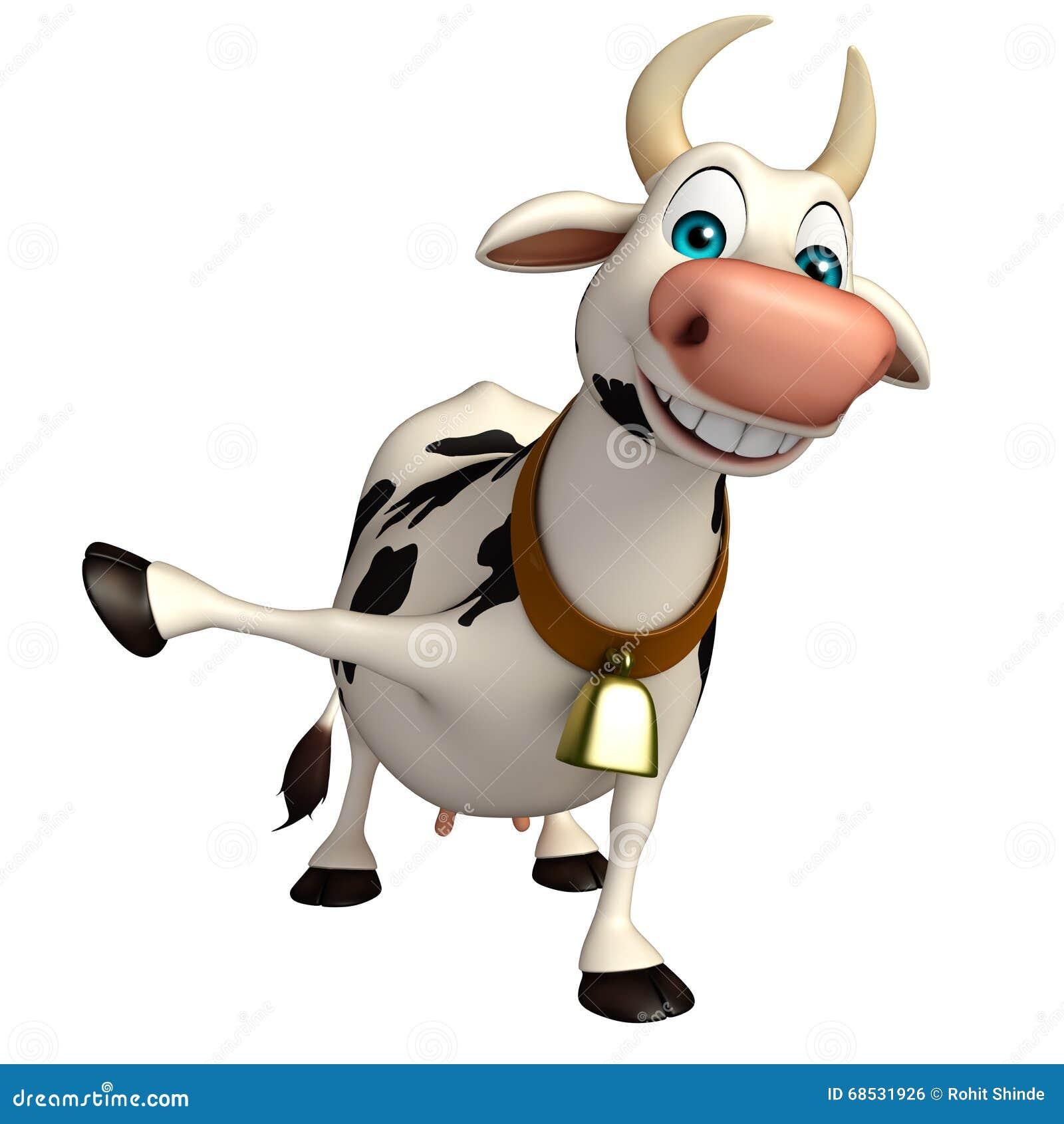 Personnage de dessin anim dr le de vache amusement illustration stock illustration du - Photo de vache drole ...