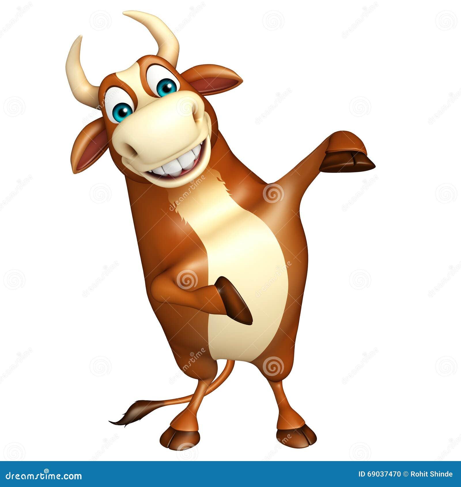 Dessin animé taureau