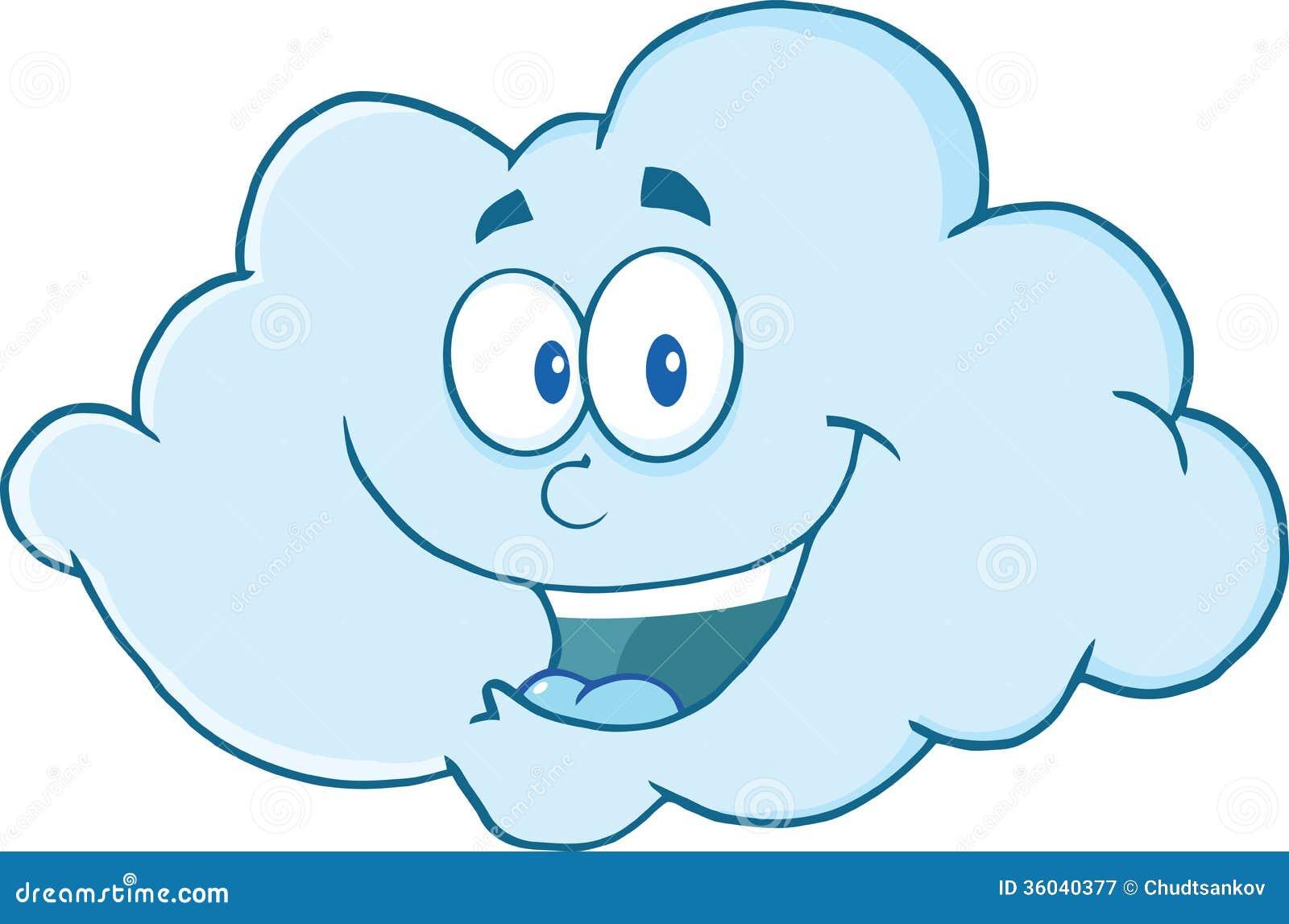 Personnage de dessin anim heureux de nuage illustration - Nuages dessin ...