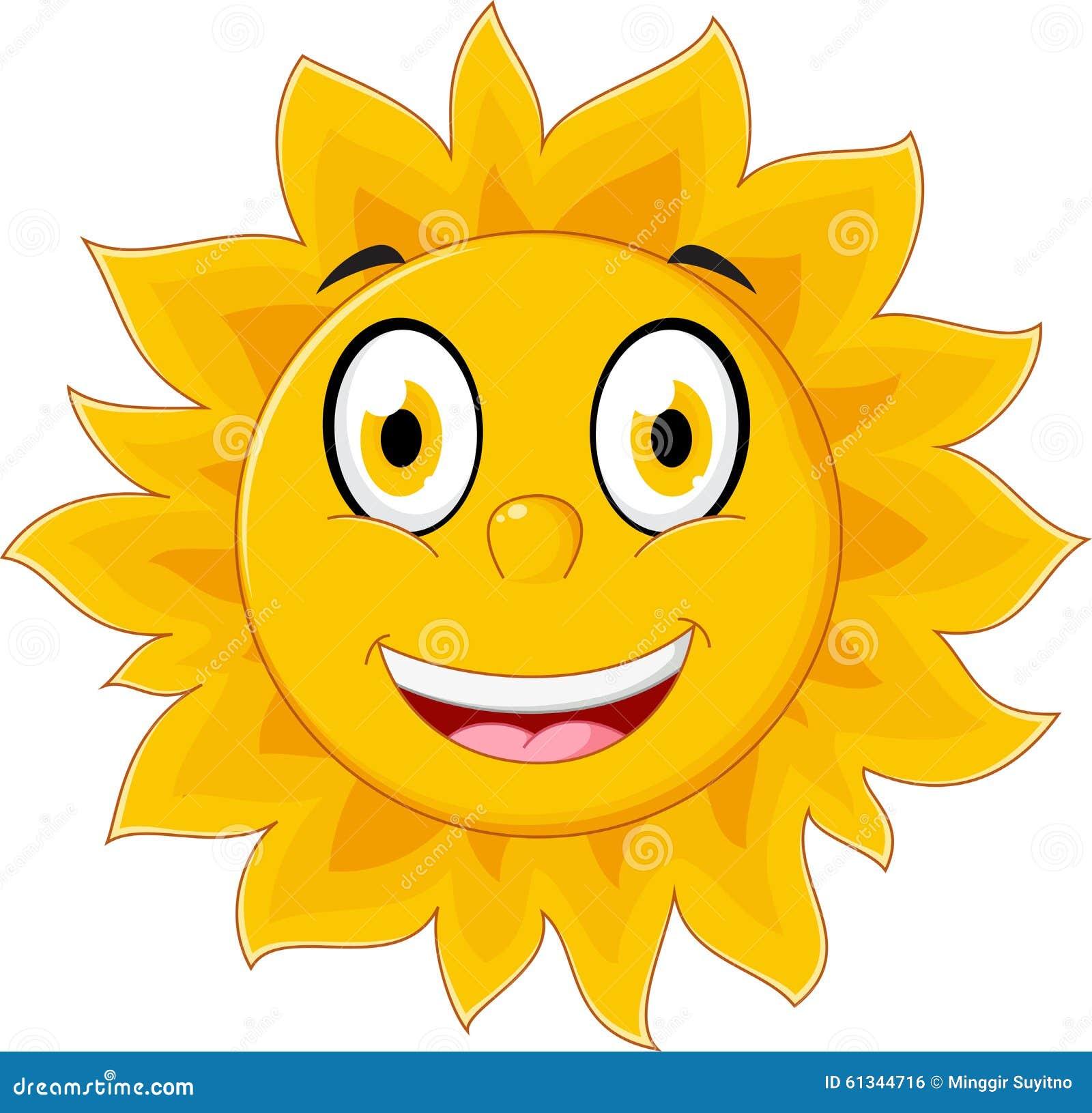 Personnage de dessin anim heureux du soleil illustration - Dessin du soleil ...