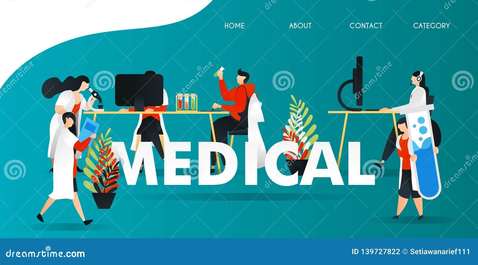 Personnage de dessin animé plat illustration de vecteur pour la technologie, la science, laboratoire, recherche, Web recherche de