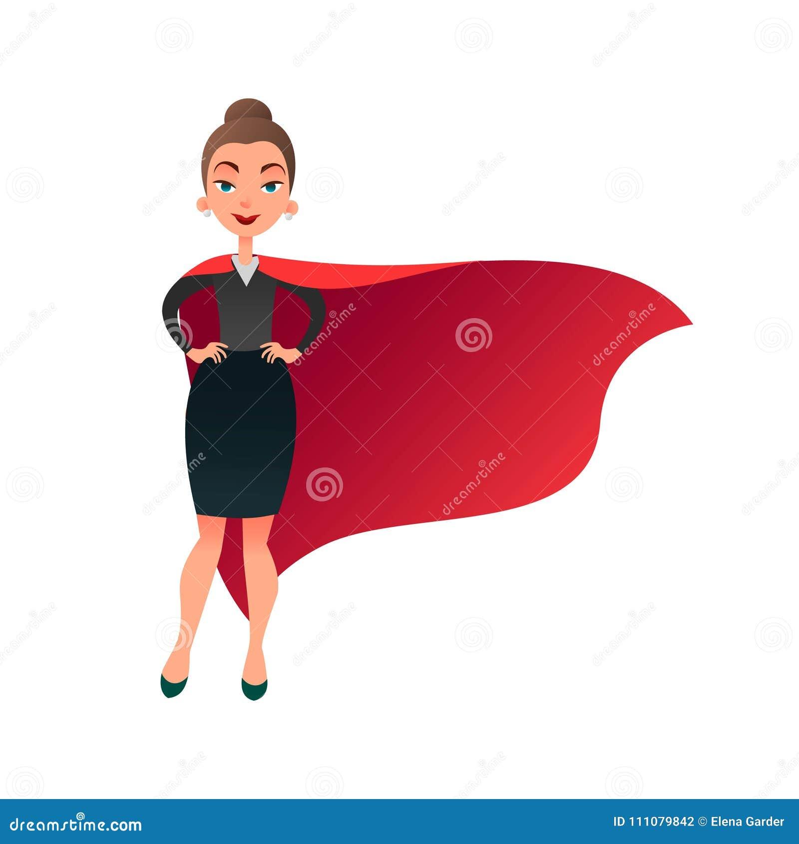 Personnage De Dessin Animé De Super Héros De Femme Femme De