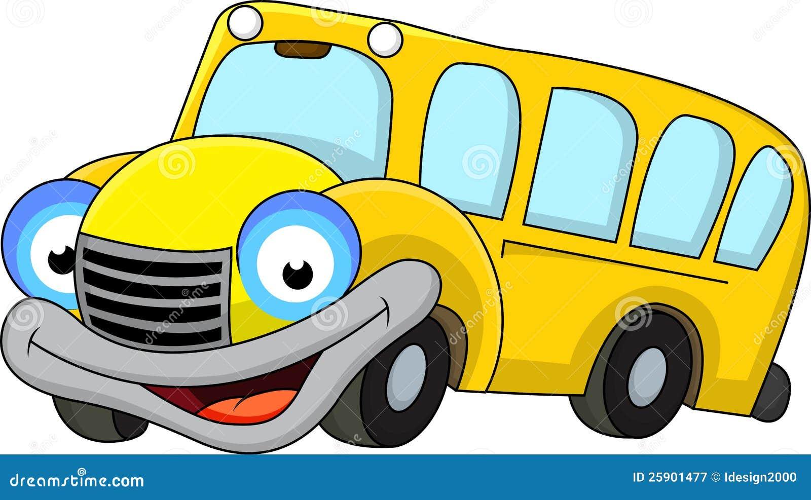 Photographie stock libre de droits school bus cartoon - Autobus scolaire dessin ...