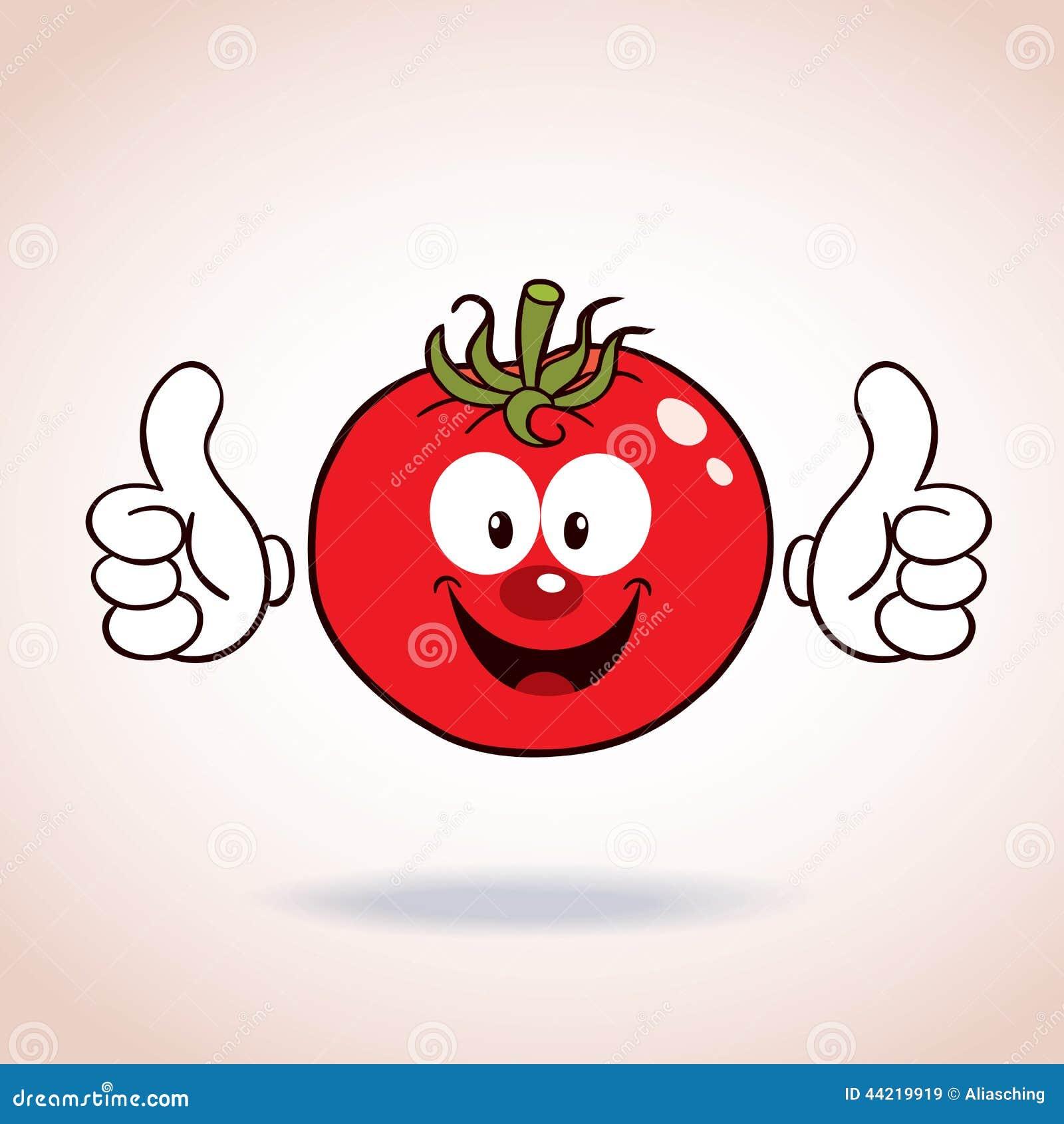 Personnage de dessin anim de mascotte de tomate illustration de vecteur image 44219919 - Dessin de tomate ...