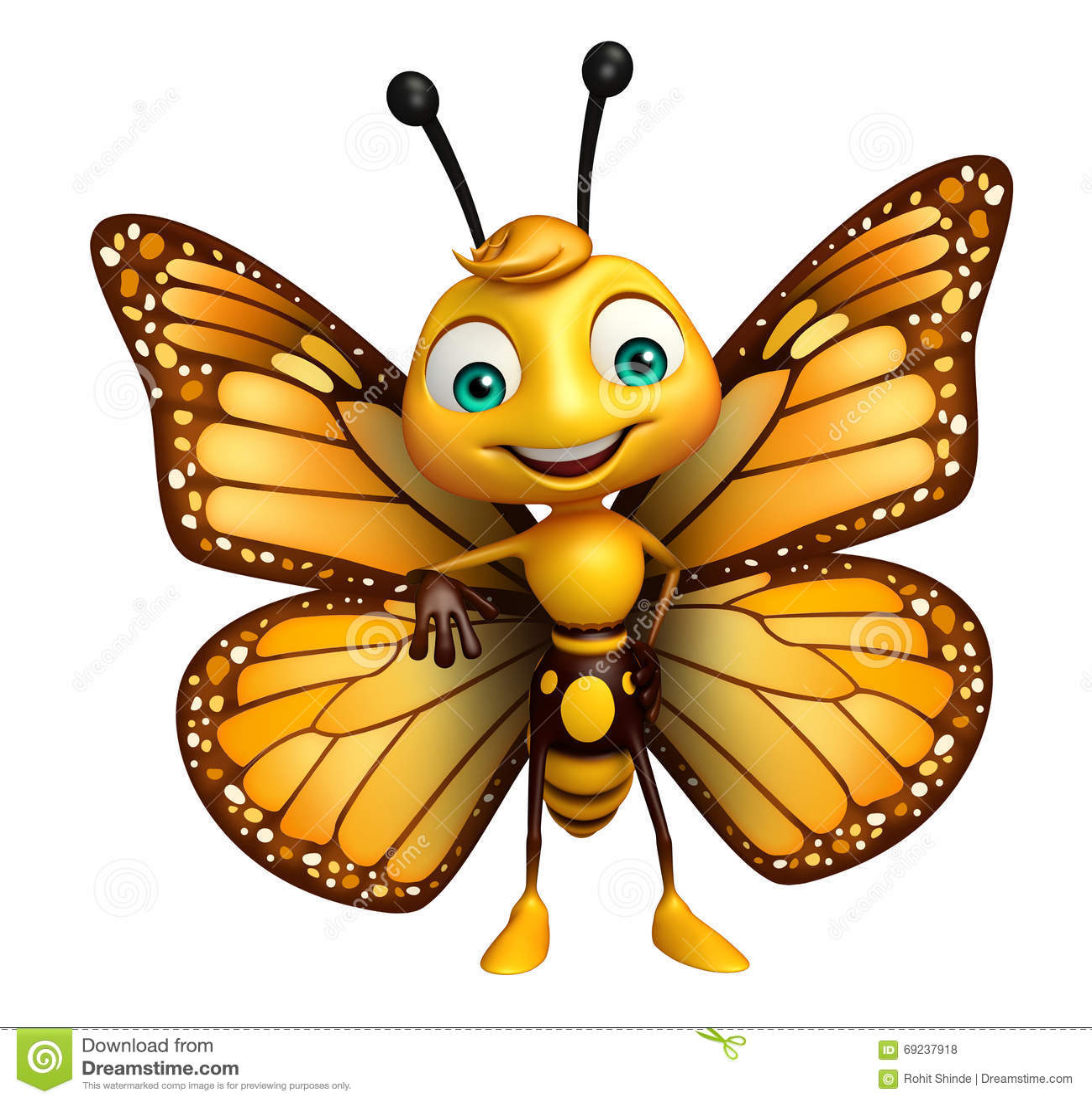 Personnage de dessin anim dr le de papillon illustration - Image papillon dessin ...