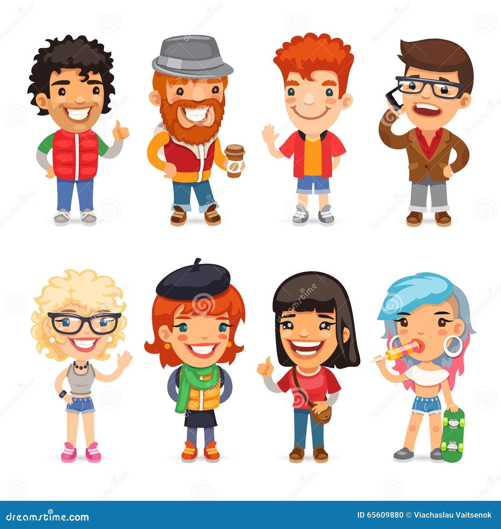 Personnages de dessin anim en passant habill s illustration de vecteur illustration du - Image de personnage de manga ...