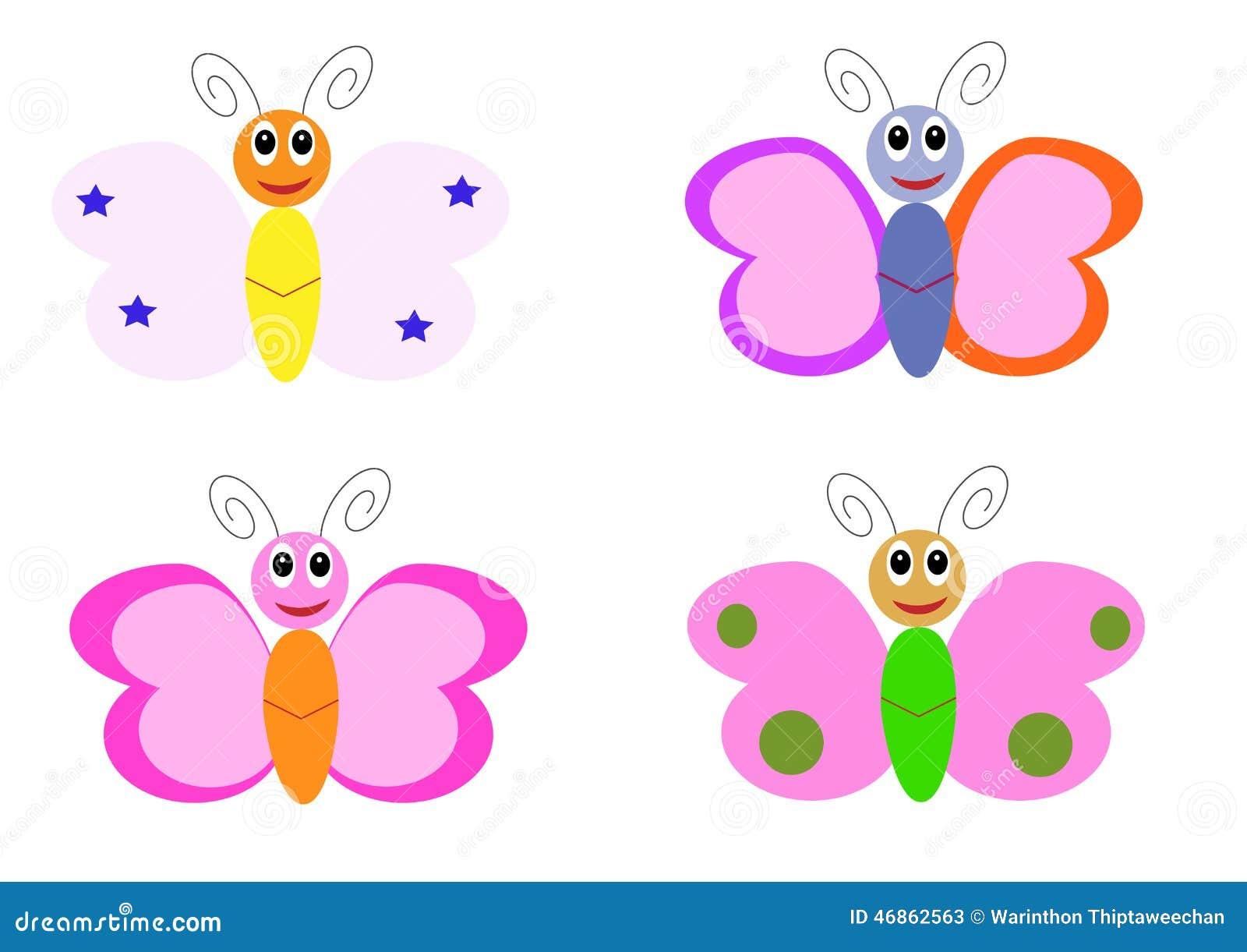 Personnages de dessin anim de papillon illustration de - Papillon dessin couleur ...