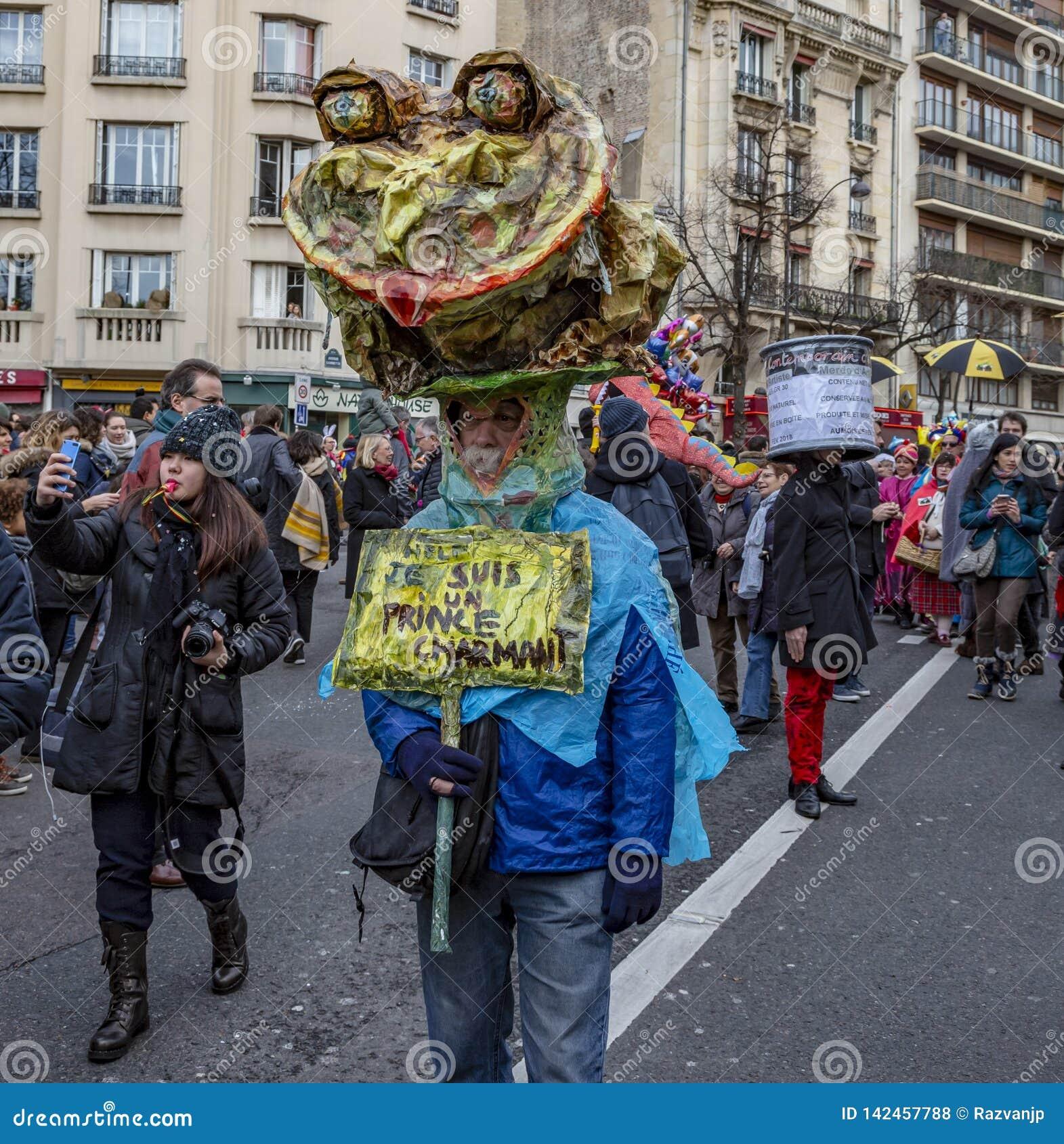 Personne déguisée - Carnaval De Paris 2018