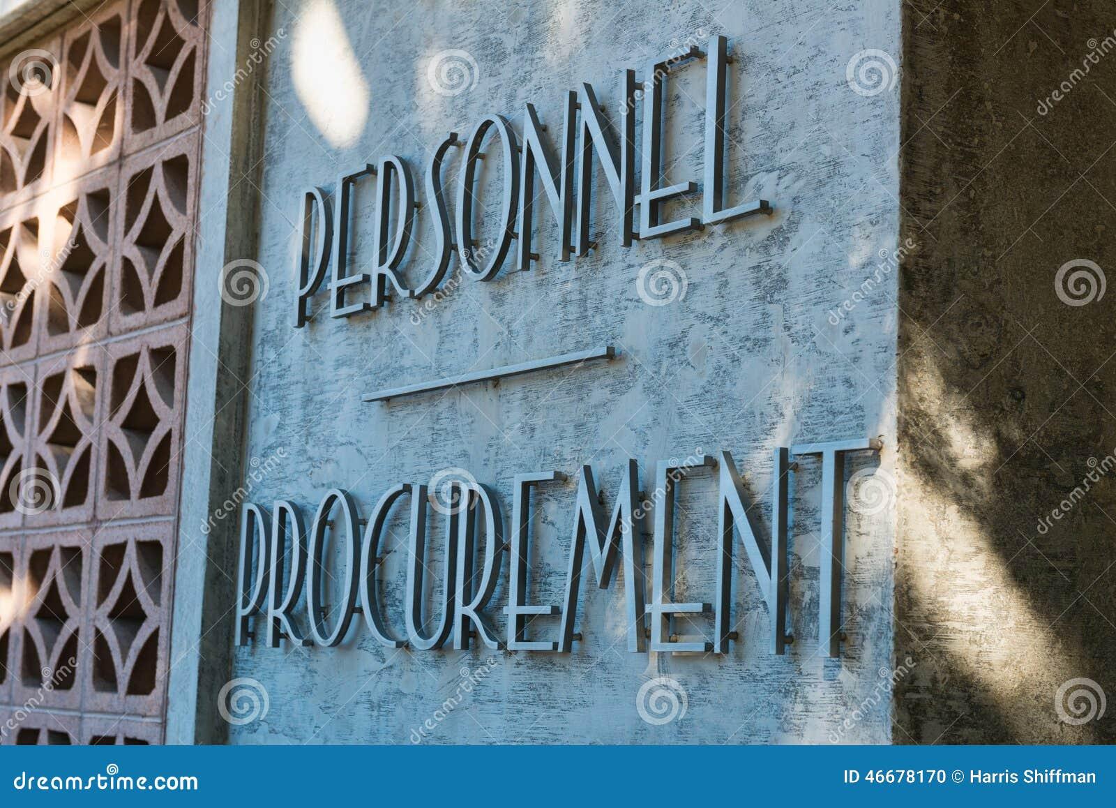 Personnel Procurement
