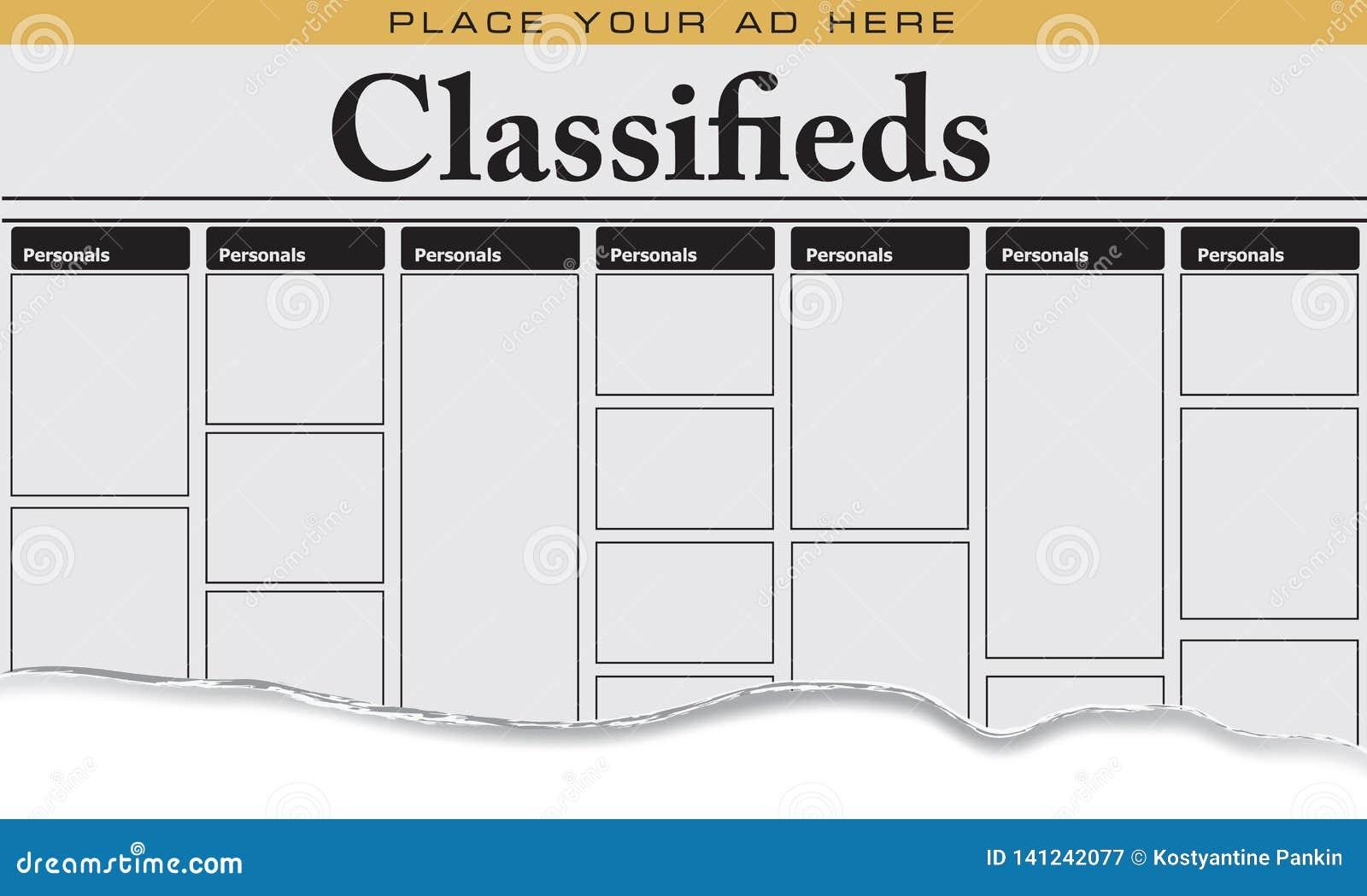 Personnels de classifieds de journal