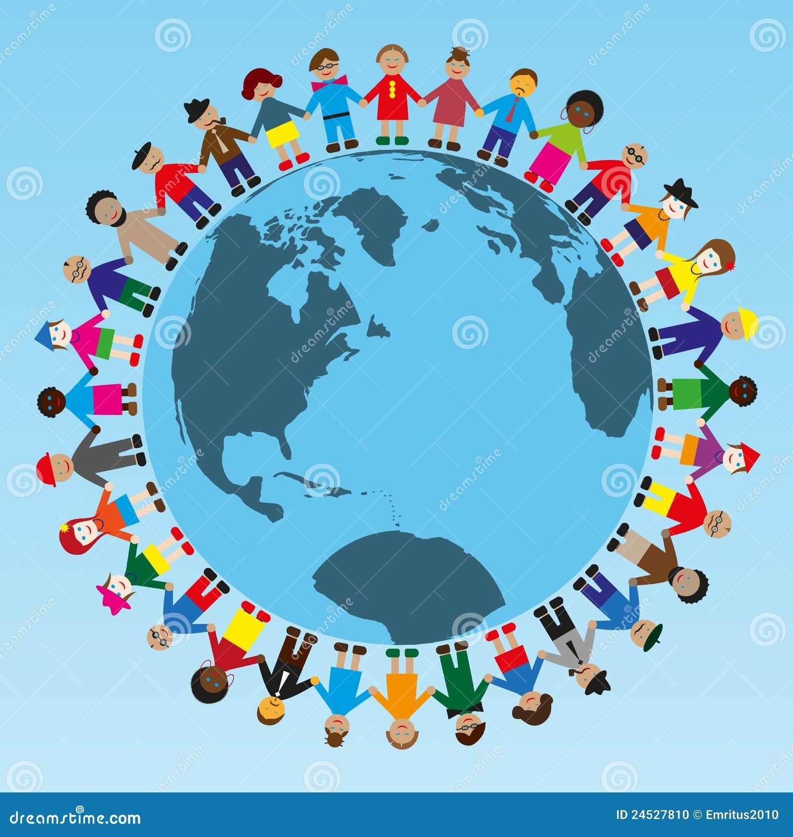Personnes à travers le monde