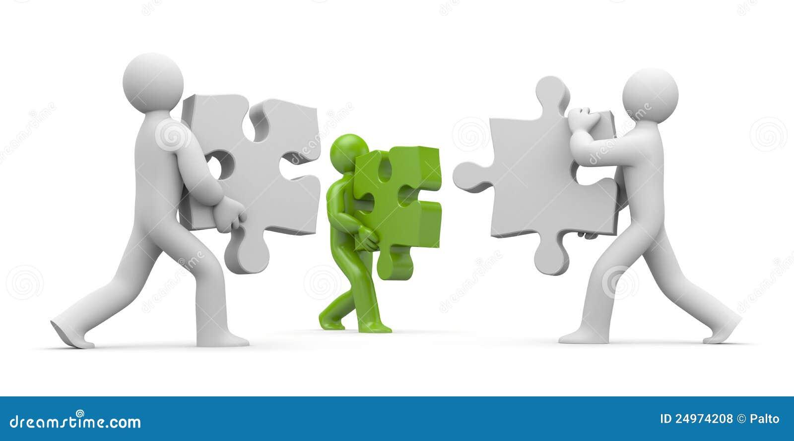 Personnes avec des puzzles