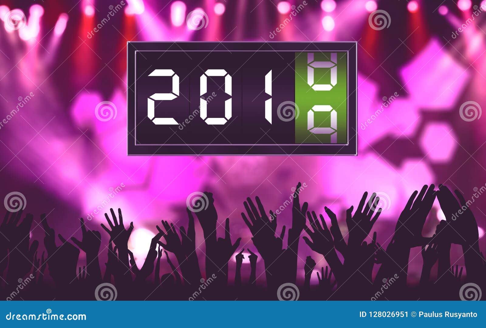 Personnes de foule au nouvel an